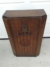 Antique  Deco GE Floor Radio Cabinet  & Radio   Model 55