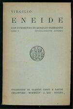 VIRGILIO ENEIDE LIBRO X CHIANTORE 1935 CLASSICI GRECI E LATINI