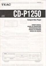 ONKYO - CD-P1250 - Bedienungsanleitung Manual - B2900