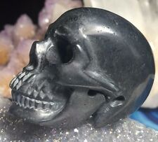 HEMATITE CRYSTAL SKULL! Realistic Skull Carving. Healing  Grounding Protection!