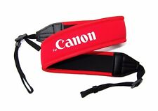 Red Neoprene Camera Neck Strap / Shoulder Belt for CANON DSLR Camera