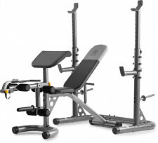 Olympic Workout Bench W/ Squat Rack Home Gym Multi-Position Exercise Equipment