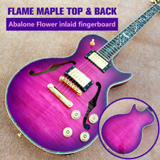 Custom Shop Semi Hollow Body Pink Purple F Holes Electric Guitar (FREE SHIPPING)