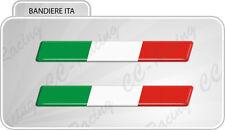 2 Adesivi Resinati Stickers 3D Flag Bandiera ITALIA 10 cm