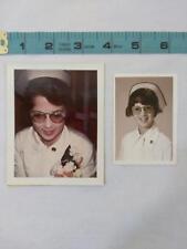 VTG ORIG 2 PHOTOGRAPHS OF YOUNG NURSE IN UNIFORM Providence Hospital Michigan