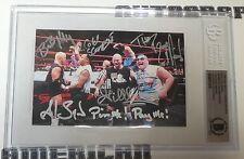 Bob Holly Al Snow 2 Cold Scorpio Blue Meanie Gillberg Signed Card WWE JOB Squad