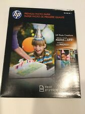 2 Packs Of HP C6979A Photo Paper Premium Plus, Soft Gloss, Size 8.5x11 100 Total