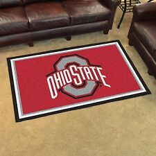 Ohio State Buckeyes 4' X 6' Decorative Ultra Plush Carpet Area Rug