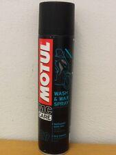 34,-€/l Motul Wash & Wax 400 ml Spray zur Trockenreingung und Pflege