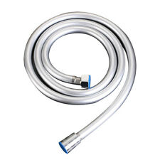 1.5m Smooth PVC Bathroom Water Shower Head Hose Tube Replacement Connector G1/2