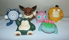 Lot of 6 VTG Nintendo Pokemon 1999 Rubber Jigglypuff  Poliwhirl Figure  Snorlax