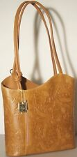 MADE IN ITALY Handbag Light Brown 1547 Backpack Genuine Leather Shoulder Bag