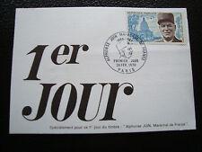 FRANCE - carte 1er jour 28/2/1970 (marechal alphonse juin) (cy56) french