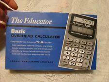 New THE EDUCATOR TI-108 BASIC OVERHEAD CALCULATOR NO. 203 TEXAS INSTRUMENTS