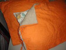 NORDSTROM HOME KHAKI ORANGE PICKSTITCH VOILE (2PC) 1 STANDARD 1 EURO PILLOW SHAM