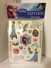 Disney Frozen 24 Count Tattoos Great Stocking Stuffers Brand New