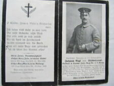 Rare Wwi German Death Card, Kia On His Birthday, Joining His Brother, Shell Hit