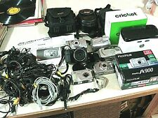 Digital Camera LOT FujiFilm HP Vivitar + CASES, Cords, Manuals & CRICKET VR