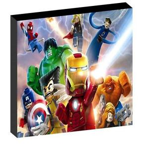 LEGO SUPERHEROES AVENGERS CANVAS PICTURE