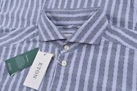 NWT Current Eton Size 41 16 Large Contemporary Dress Shirt New Blue Cutaway