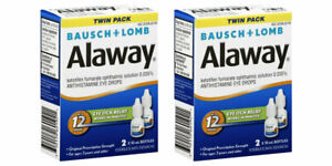 (Lot of 2) Bausch & Lomb Alaway Eye Itch Relief Drops Twin Pack Exp 04/2022