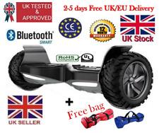 """9"""" Bluetooth + Haut-parleur 2 ROUES ELECTRIC OFF-ROAD Hoverboard, Royaume-Uni certifié Rp £ 700"""