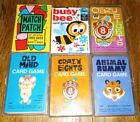 LOT vintage Whitman Cards Old Maid animal rummy crazy eights busy bee 1959 50s