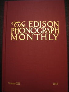 Scarce Edison Phonograph Monthly Collector Book #12 NEW