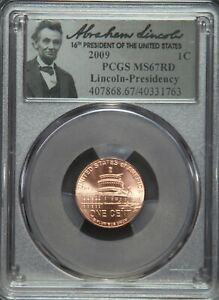 2009-P Lincoln Cent Penny Presidency Washington DC PCGS MS67 MS67RD