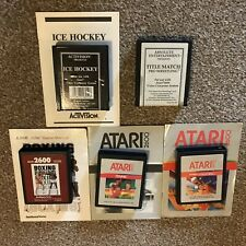 ATARI 2600 - 5 X SPORTS GAME BUNDLE - CARTRIDGE/INSTRUCTIONS - FULLY TESTED