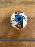 Beautiful Native American Polychrome Jemez Pueblo Pottery Seed Pot Unsigned