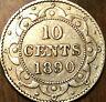 1890 NEWFOUNDLAND SILVER 10 CENTS