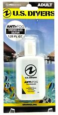 U.S. Divers Anti-Fog Tempered Glass Solution Gel 1.25 FL OZ Concentrated 61500