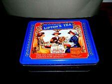Lipton Nolstalgic Tea Tin Box Storage Metal Collection Series #401