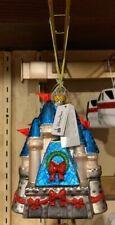 Disney Parks Disney Princess Castle Glass Christmas Ornament New