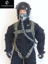 1/6 ~ 1/5 Scale Modern Jet Pilot Figure (Blue) w/ Servo Operated Head
