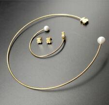 2020 Stainless Steel Jewelry Necklace Earrings Bracelet Set