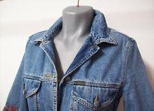 MARC CAIN Jeans Jacke /Jackett /Blazer BLAU HALBARM 100% BAUMWOLLE Gr.38/size N3