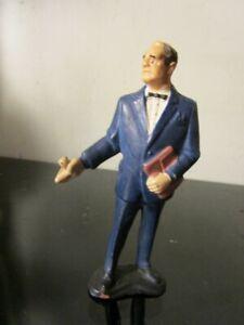 "Vintage 1965 JAMES BOND ACTION FIGURE 3"" Gilbert Toy M Brilliant Boss Spy 007~"