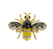 jewellery enamel and crystal detail Indulgence Honey Bee Brooch Quality costume