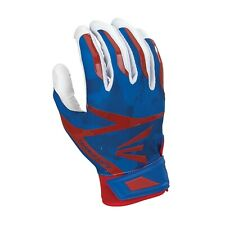 Adult Easton Z7 Hyperskin Softball Baseball Batting Gloves Blue Red White Camo