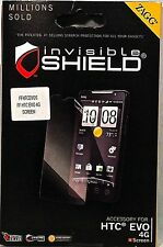 NEW ZAGG HTC EVO 4G invisiblSHIELD MILITARY GRADE ANTI-SCRATCH SCREEN PROTECTOR