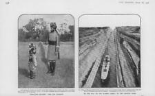 1906 Antique Print - INDIA Sikh Boy Recruits GREECE Corinth Canal Shipping (55)