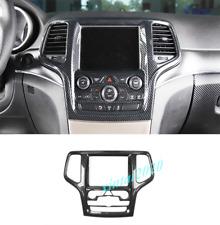 Carbon Fiber GPS Navigation Panel Cover Trim For Jeep Grand Cherokee 2014-2020