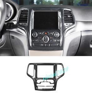 Carbon Fiber GPS Navigation Panel Cover Trim For Jeep Grand Cherokee 2014-2018