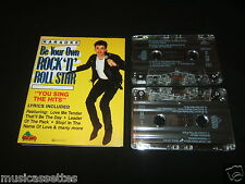 KARAOKE BE YOUR OWN ROCK 'N' ROLL STAR AUSTRALIAN DOUBLE CASSETTE TAPE