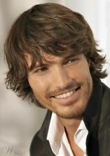 100% Human Hair Boutique Last Fluffy Short Capless Brown Wig For Fashion Men
