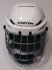 Easton E400 Hockey Rodeo White Helmet E500FM Face Guard Chin Strap Adjustable