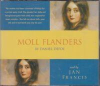 Moll Flanders Daniel Defoe 3CD Audio Book Jan Francis Abridged FASTPOST