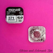 2x Maxell 371 Uhren Batterie Knopfzelle SR920SW SR920 AG6 Silberoxid Blisterware